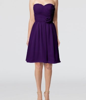 short royal purple bridesmaid dresses