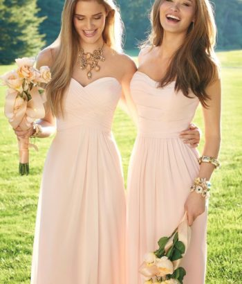 sweetheart pink bridesmaid dresses