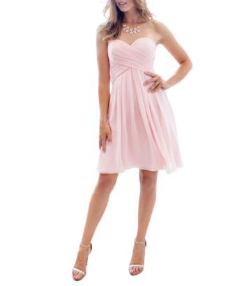 sweetheart top light pink bridesmaid dresses