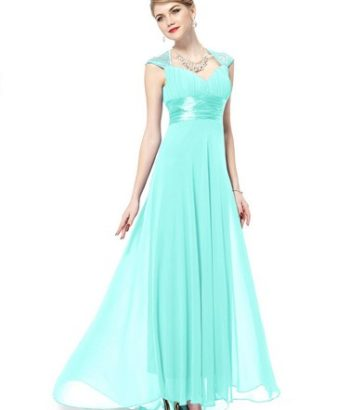 tiffany blue bridesmaid dresses with Cap Sleeves