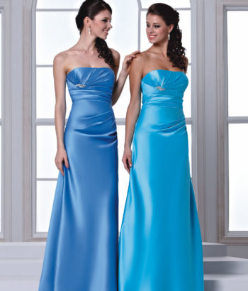two piece cornflower blue bridesmaid dresses