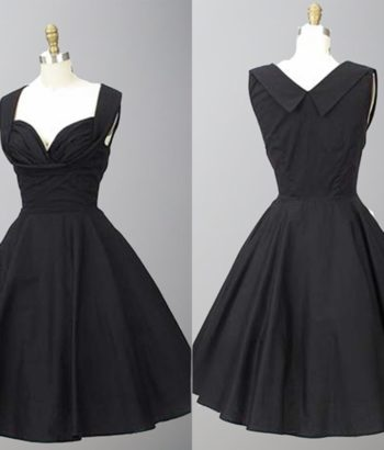 1950s Inspired Shelf Bust Little Black Dresses