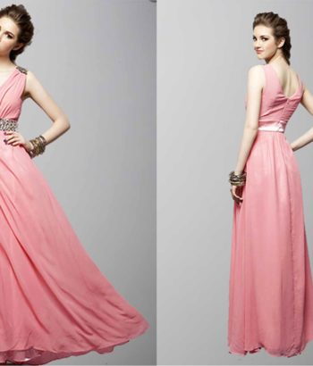 A Deep V-Neck Free Style Long Prom Dresses