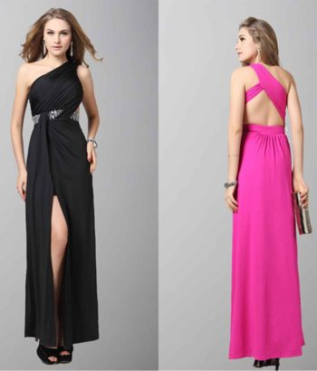 Agreeable Black One Shoulder Split Formal Dresses