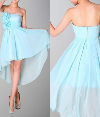 Attractive Strapless High Low Bridesmaid Dresses