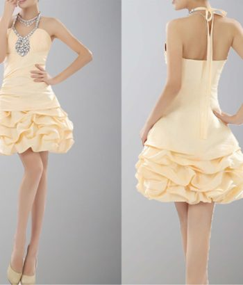Cream V-Neck Short Homecoming Dress With Beads
