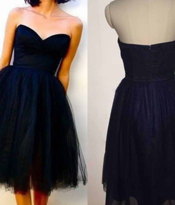 Cute Blue Sweetheart Short Graduation Dresses