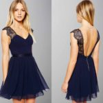 Cute Lace Cap Sleeves V-neck Short Graduation Dress