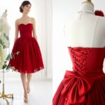 Cute Red Sweetheart Short Tulle Graduation Dresses