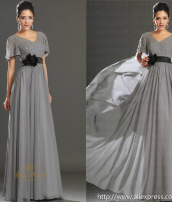 Dark gray bridesmaid dresses with black sash