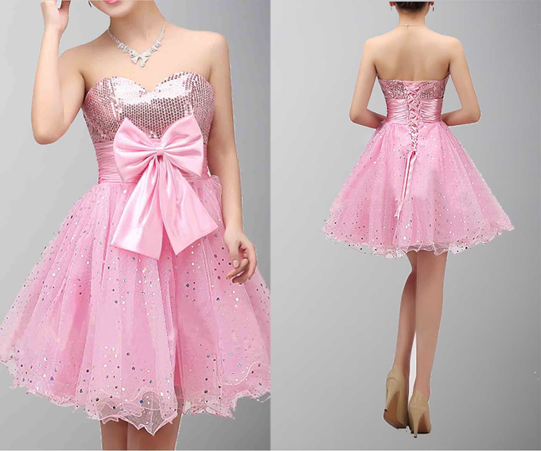 Empire Sweetheart Tulle Homecoming Dress With Beading