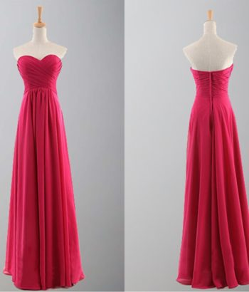 Flame Sweetheart Empire Waist Long Prom Dresses