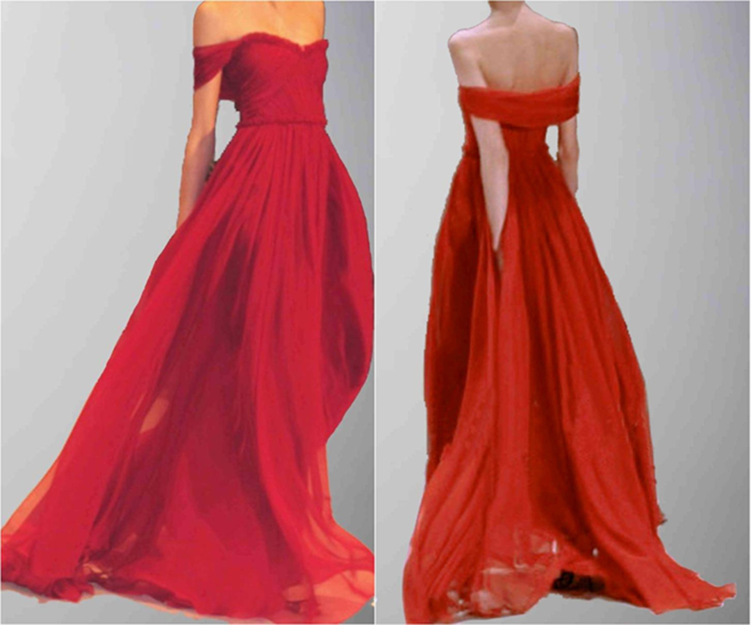 Flowing Floor Length Sexy Off Shoulder Red Formal Dress