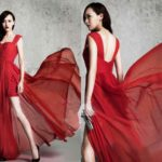Flowing Long Red Prom Dresses With Tank Straps