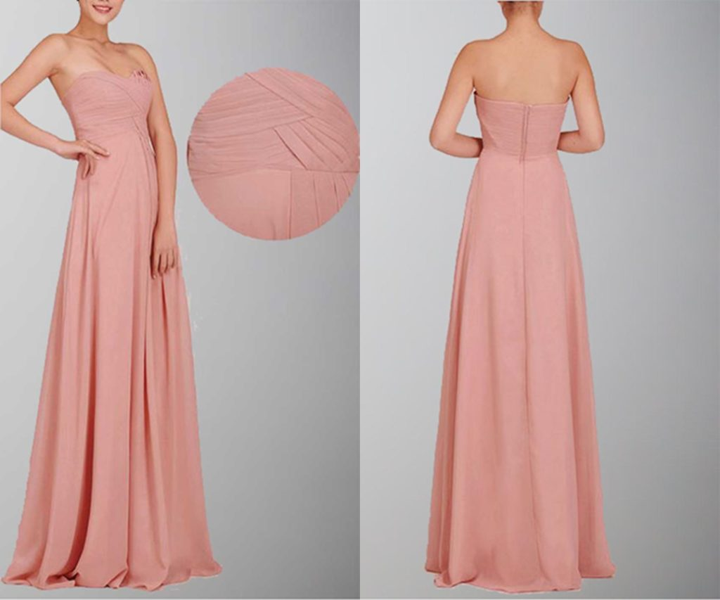 Gorgeous Sweetheart Neck Chiffon Formal Dresses