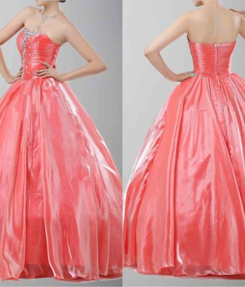 Graceful Strapless Princess Style Prom Dresses