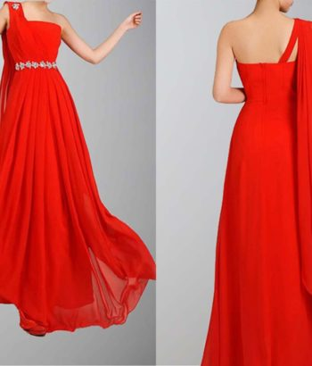 Greek Goddess Flame Beaded Long Dress For Prom