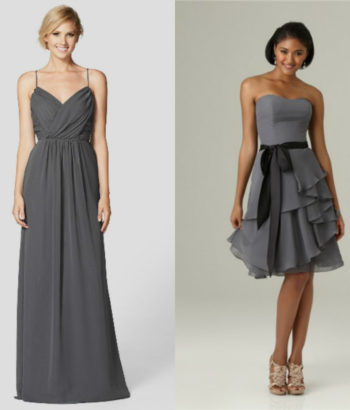 charcoal gray bridesmaid dresses Beach