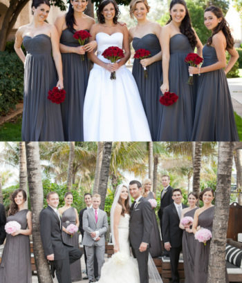 charcoal gray bridesmaid dresses and suits 2017