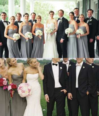 dark gray bridesmaid dresses black tuxedo