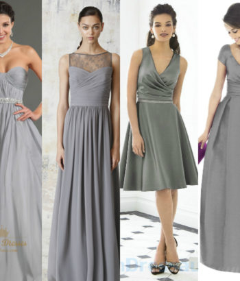 different shades of gray bridesmaid dresses