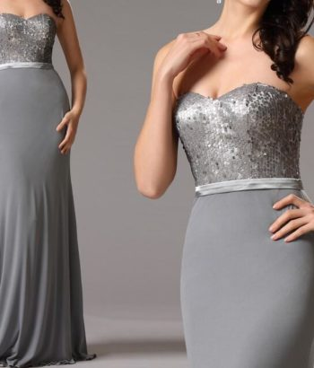 sequin gray bridesmaid dresses elegant