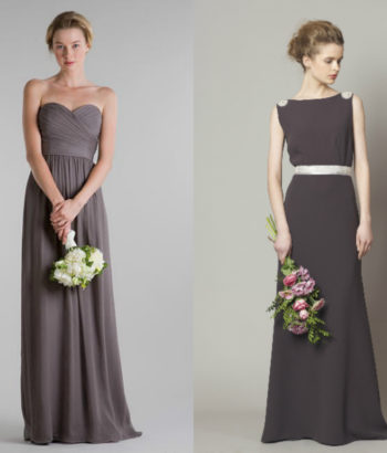 slate gray bridesmaid dresses long