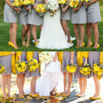 yellow shoes with gray bridesmaid dresses