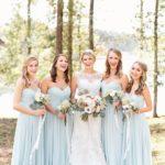 2017 pale blue bridesmaid dresses wildflowers