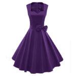 40s style bridesmaid dresses purple