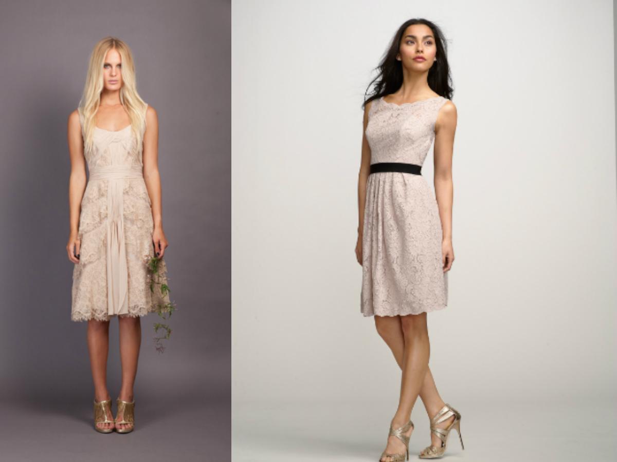 Cheap Short Beige Bridesmaid Dresses Under 100 Budget