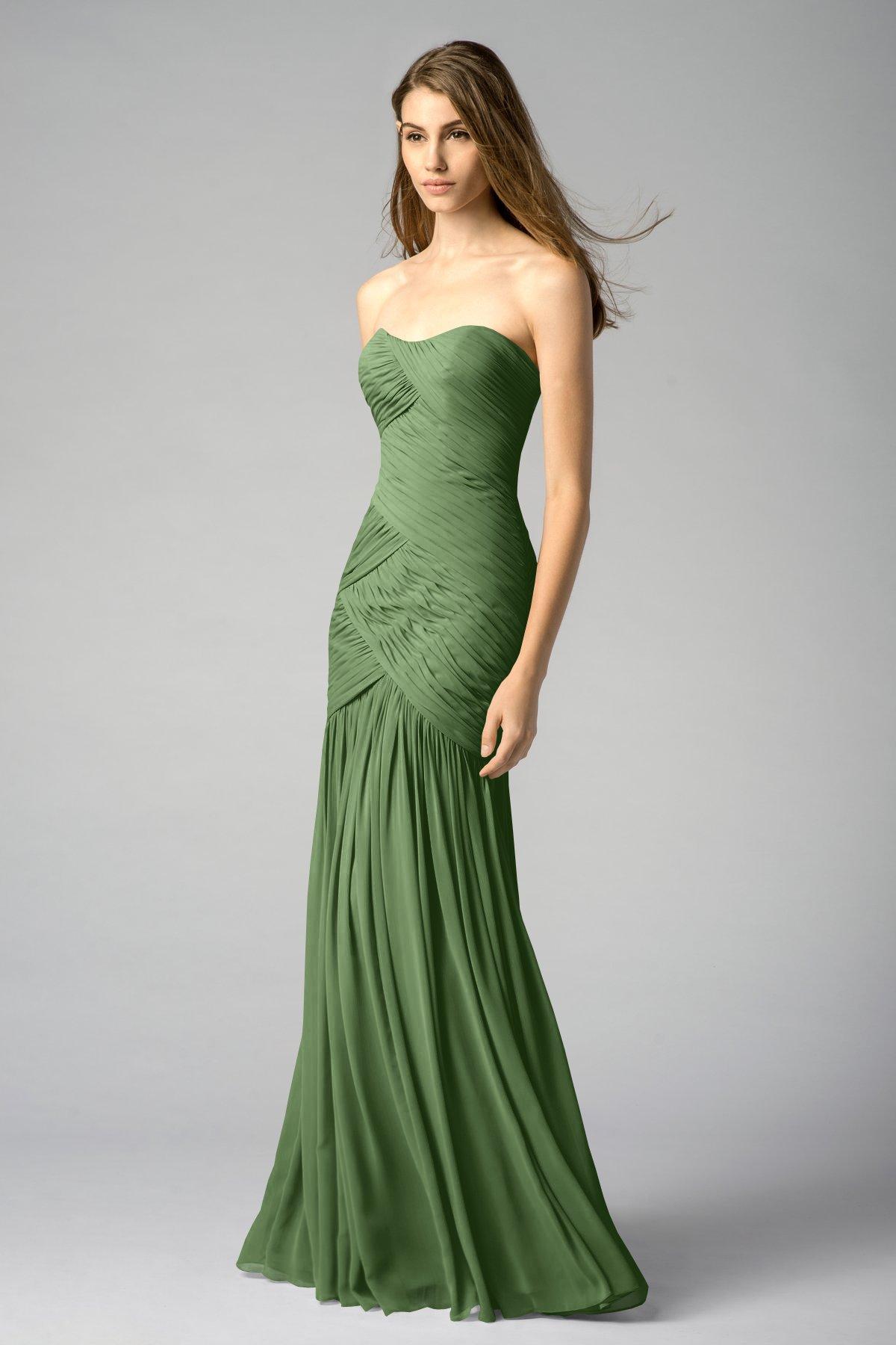 Flora Green Mermaid Bridesmaid Gowns 2017