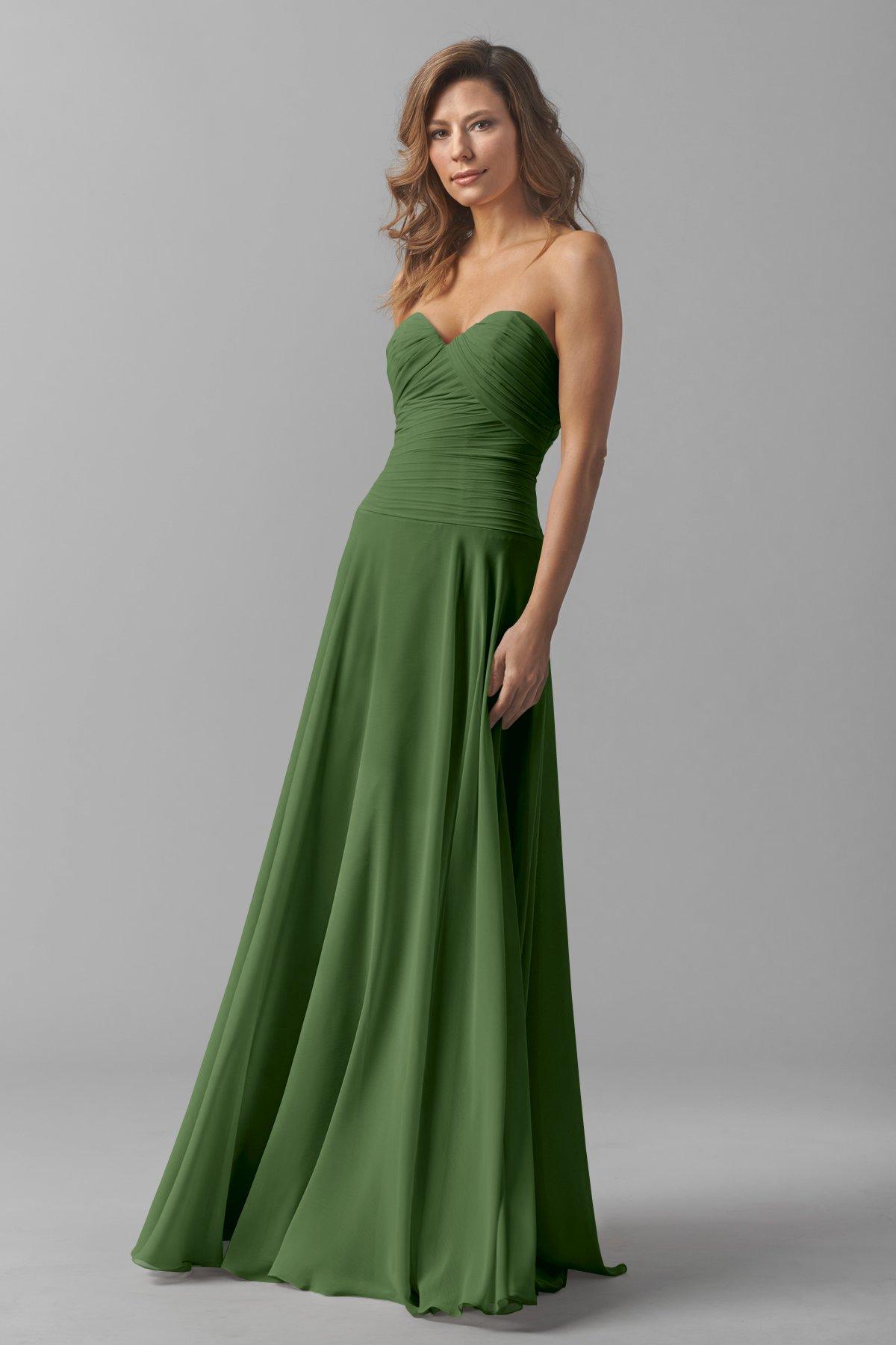 Flora Green Sweetheart Bridesmaid