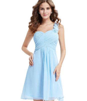 Gorgeous baby blue One shoulder bridesmaid dress