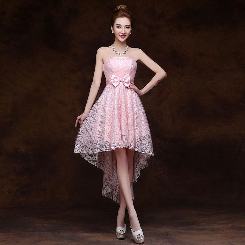 High Low Blush Pink Bridsmaid Dress