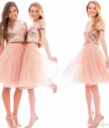Jewel Blush Pink Bridesmaid Dress