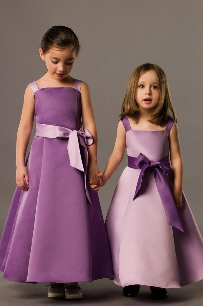 Little girls purple bridesmaid dresses