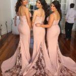 Mermaid Blush Pink Bridesmaid Dress
