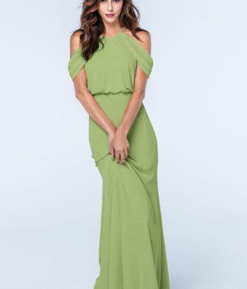 Midori Green Straps Chiffon Bridesmaid dress