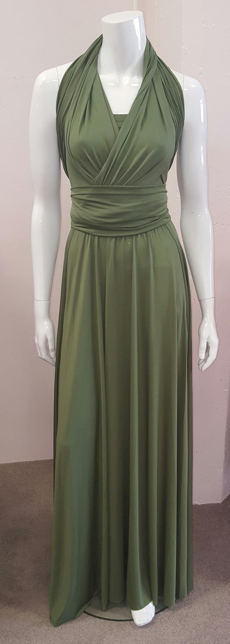 Olive Green Infinity Bridesmaid Dress