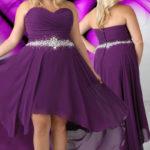 Pretty plus size purple bridesmaid dresses