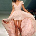 Sexy V neck formal Bridesmaid Dresses Pink