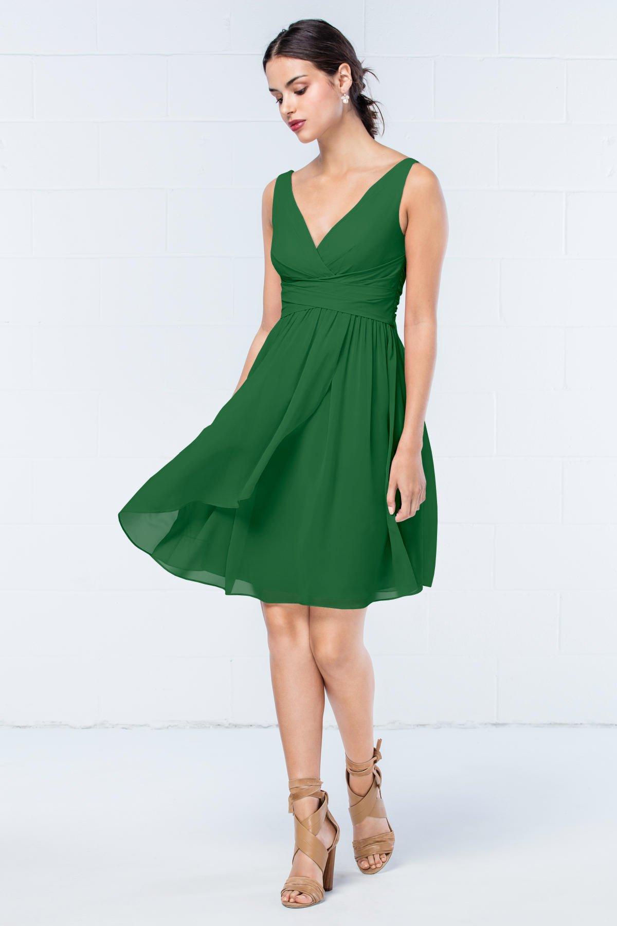 Short Emerald Green Summer Bridesmaid Dress Budget