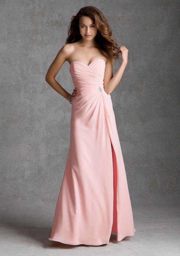 Sweetheart Blush Pink Bridesmaid Dress