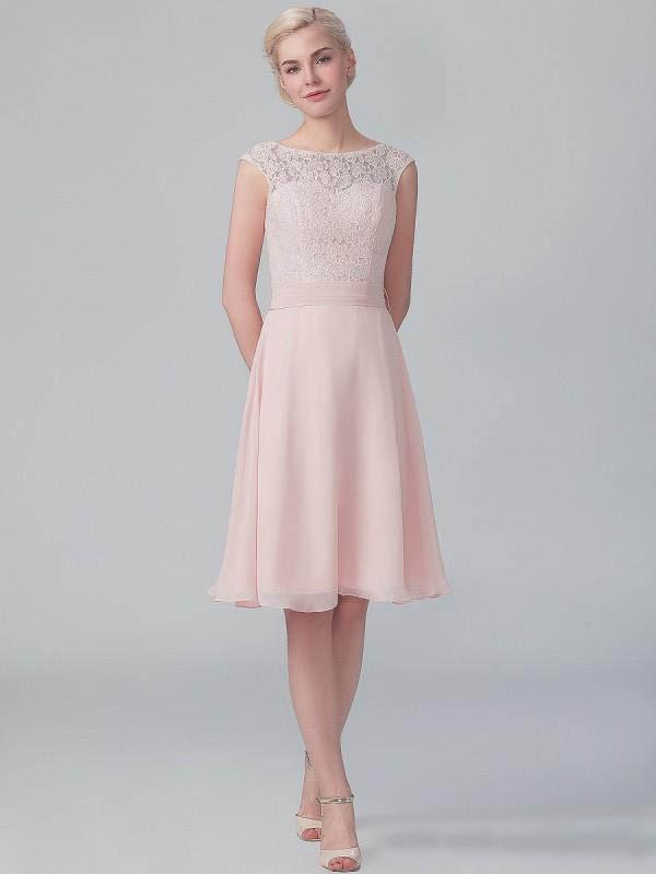 Vintage Blush Pink Bridsmaid Dress