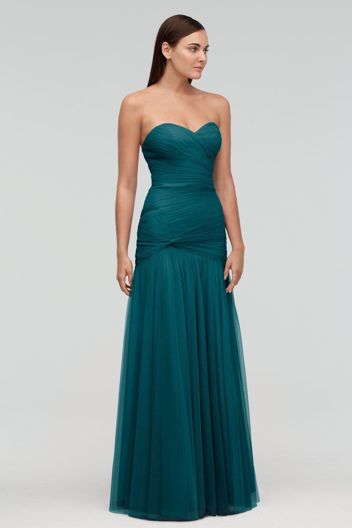 Viridian Sweetheart Bridesmaid Dress