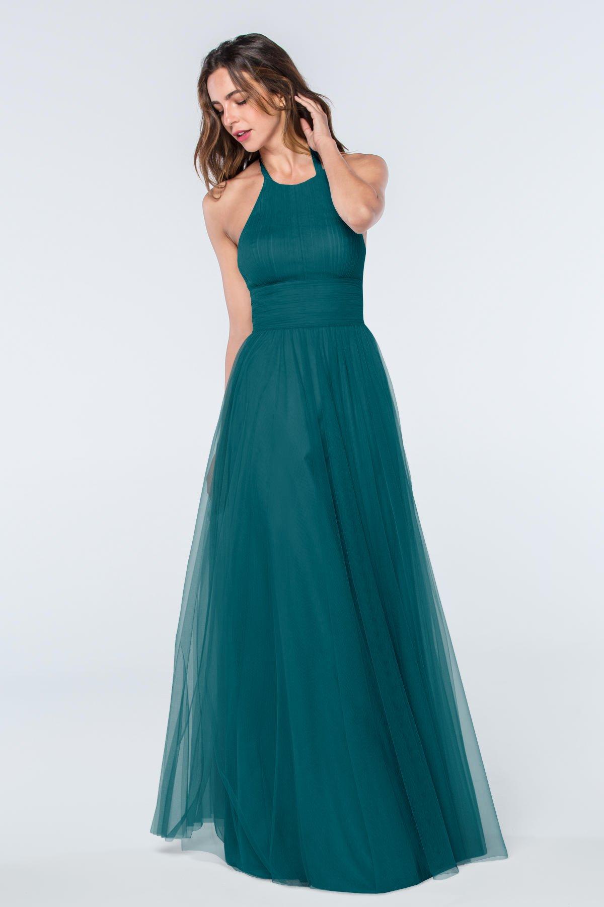 Viridian long bridesmaid dresses 2017