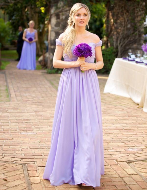 a line light purple bridesmaid dresses