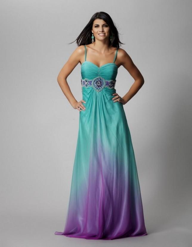 bridesmaid dresses purple and turquoise