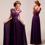 bridesmaid dresses purple lace UK